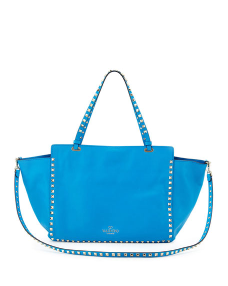 Rockstud Medium Tote Bag, Blue