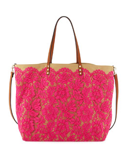 Valentino Glam Lace Tote Bag