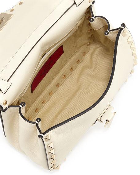 Rockstud Mini Crossbody Bag, Ivory
