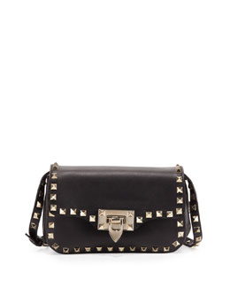 Valentino Rockstud Mini Crossbody Bag, Black