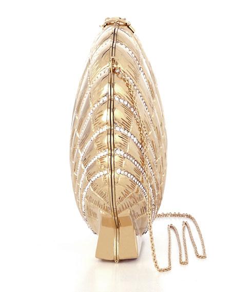 Shell Shocked Shoulder Bag, Gold