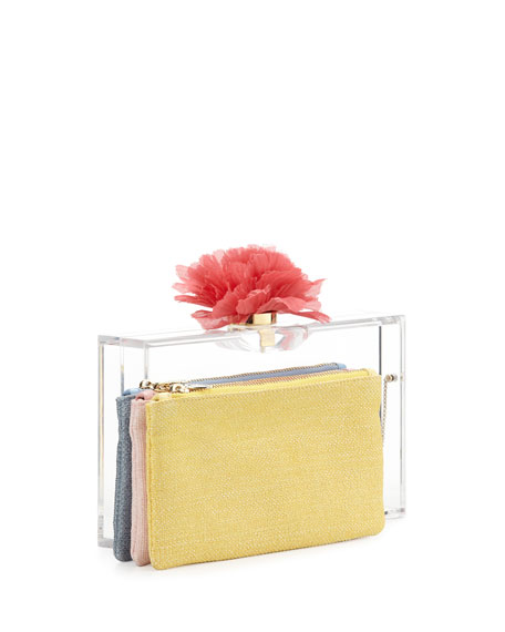 Pandora Blooming Box Clutch, Clear