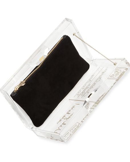 Pandora Wish You Were Here Box Clutch, Clear