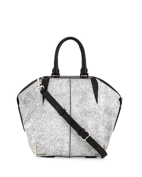 Emile Skeletal Tote Bag, White