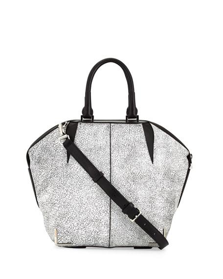 Emile Skeletal Tote Bag, White