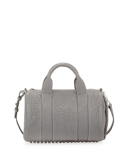 Alexander Wang Rocco Dumbo Stud-Bottom Satchel Bag, Gray