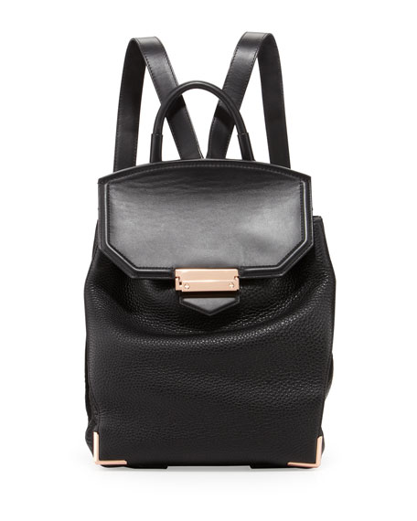 prisma-skeletal-leather-backpack,-black by alexander-wang