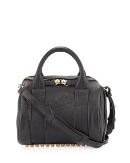 Alexander Wang Rockie Dumbo Slick Small Crossbody Satchel, Black