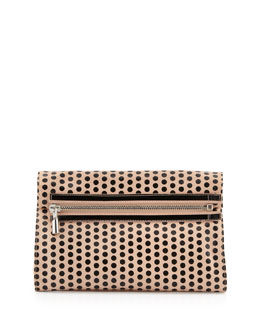 Elizabeth and James Cynie Polka Dot Convertible Clutch Bag, Champagne