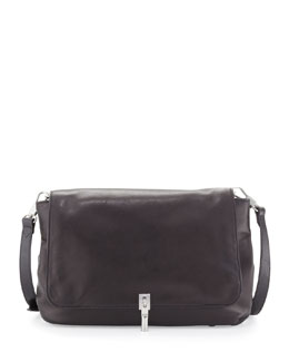 Cynie Lambskin Crossbody Bag, Black