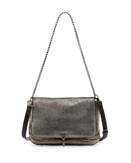 Elizabeth and James Cynnie Razza Crossbody Bag, Gunmetal
