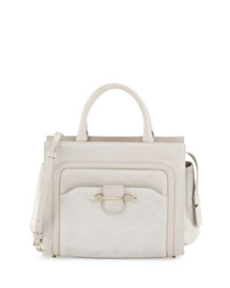 Jason Wu Daphne Suede Crossbody Tote Bag, Beige
