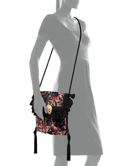 Floral Embroidered Surfer Bag