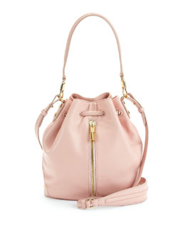 Elizabeth and James Cynnie Mini Bucket Bag, Pink Beach