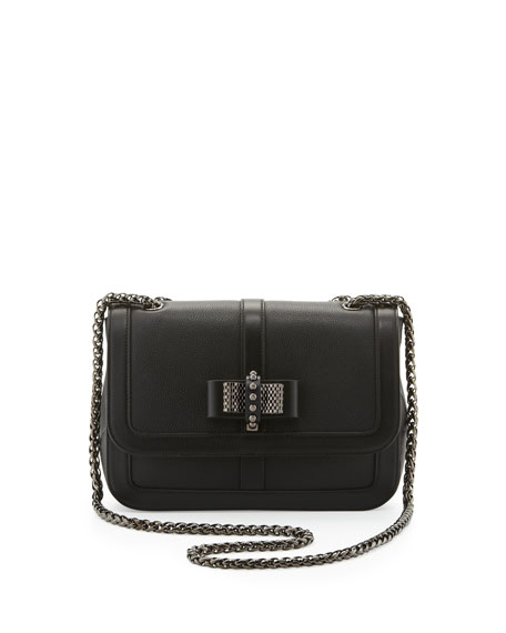 Sweet Charity Calfskin Shoulder Bag, Black