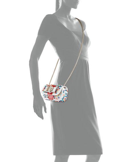 a09e9b78924 Christian Louboutin Sweet Charity Small Spiked Crossbody Bag