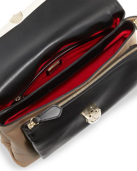 Scarab Medium Triple-Pocket Shoulder Bag