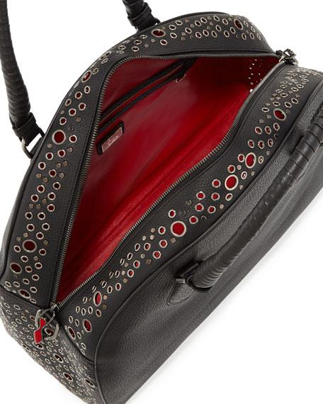 Panettone Large Eyelet Satchel Bag, Black