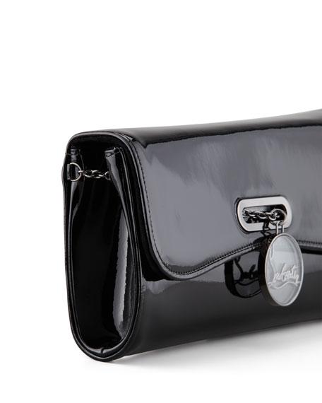 Riviera Patent Clutch Bag, Black