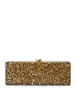 Edie Parker Flavia Confetti Acrylic Clutch Bag, Gold
