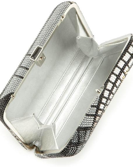 Penn Station Rectangle Clutch Bag, Silver