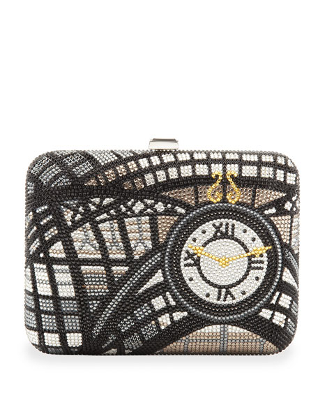 Penn Station Rectangle Clutch Bag, Silver