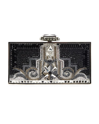 Sale alerts for Judith Leiber Couture  30 Rock Perfect Rectangle Clutch Bag, Silver/Black  - Covvet