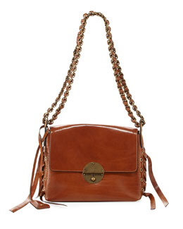 Marc Jacobs The Laces Nolita Leather Shoulder Bag, Brown