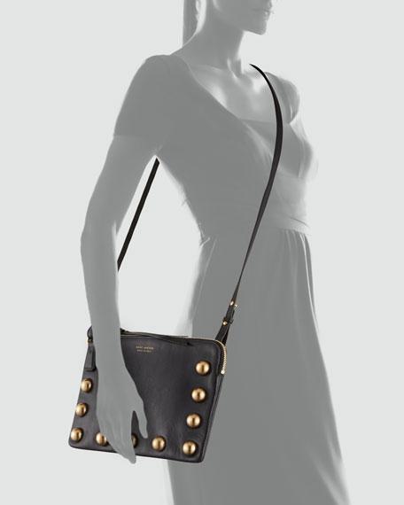 The Cabochons Secret Leather Crossbody Bag, Black