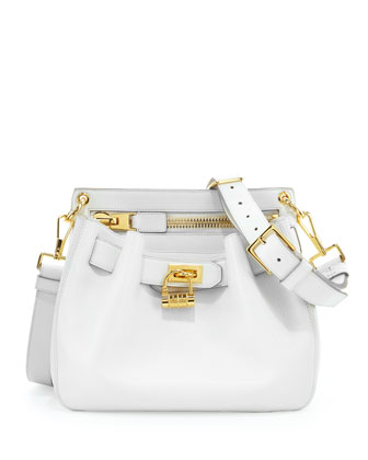 Sale alerts for Tom Ford  Small Lock-Front Crossbody Bag, White  - Covvet