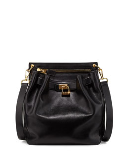 Tom Ford Lock-Front Sling Bag, Black