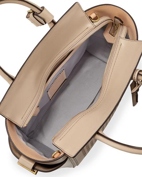 Atlantique Mini Perforated Tote Bag, Tan