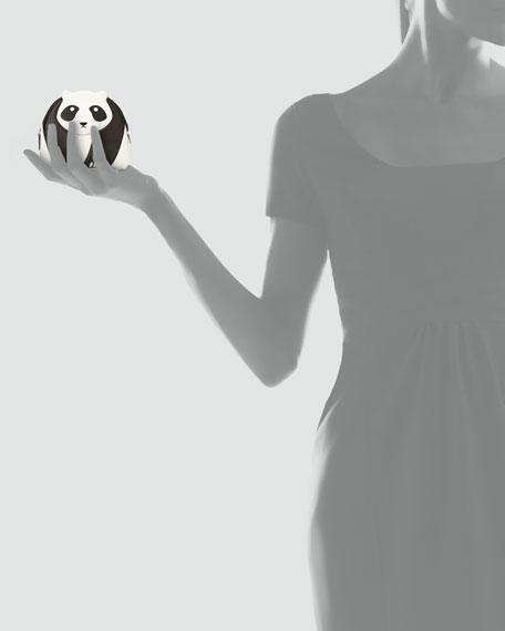 Panda Medium Zip Pouch, White/Black