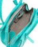 Crocodile Small Tote Bag, Turquoise
