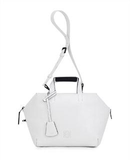 Loewe Origami Cubo Satchel Bag, White