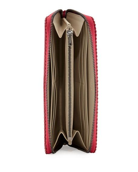 Origami Zip-Around Wallet, Raspberry