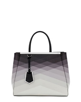 Fendi 2Jours Medium Tote Bag, Black Pattern