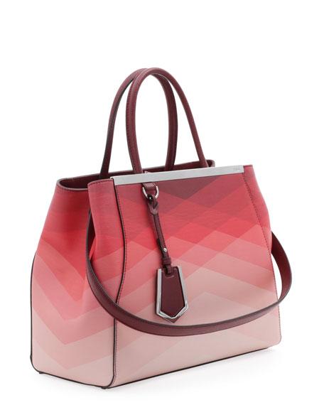 2Jours Medium Tote Bag, Red Pattern