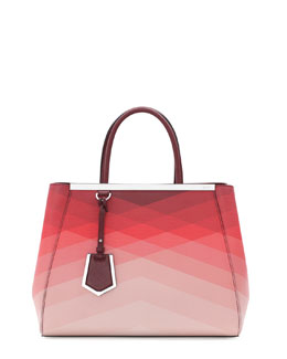 Fendi 2Jours Medium Tote Bag, Red Pattern