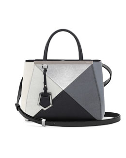 Fendi 2Jours Small Mixed-Leather Tote Bag