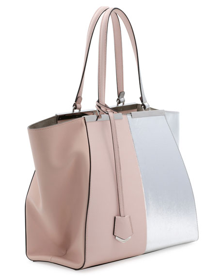 837c698300 Fendi Trois-Jour Grande Leather Tote Bag