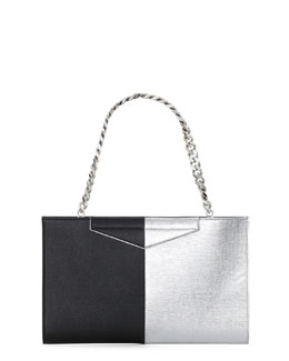 Fendi Grande Bicolor Clutch Bag, Gray/Black