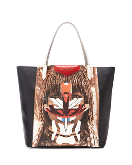 Givenchy Printed Coated Medium Tote Bag