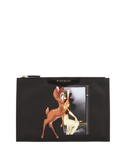 Givenchy Medium Deer-Print Zip Pouch
