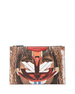 Givenchy Printed Medium Zip-Top Pouch