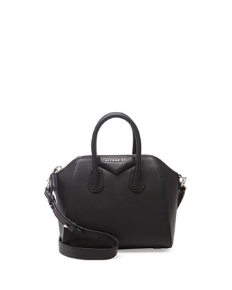Antigona Mini Sugar Crossbody Bag, Black