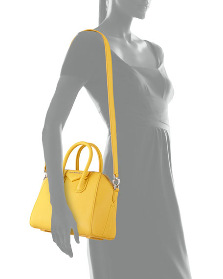 Antigona Mini Sugar Crossbody Bag, Yellow
