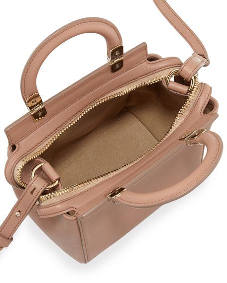 HDG Top-Handle  Mini Leather Crossbody Bag, Light Pink