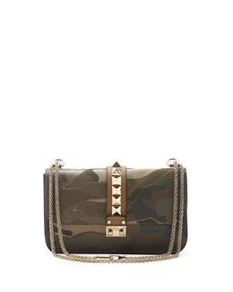 Valentino Camo Glam Lock Rockstud Flap Bag
