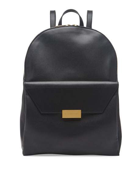 Beckett Soft Faux-Leather Backpack, Black